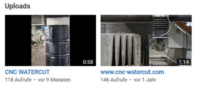 3D Wasserstrahlschneiden, jetzt bei Youtube